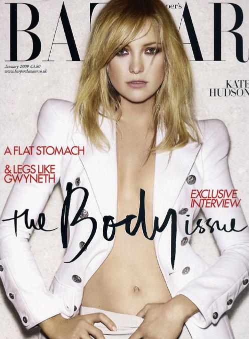 Kate Hudson na Harper's Bazaar UK de janeiro