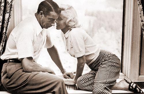 DiMaggio e Marilyn, na época de casados