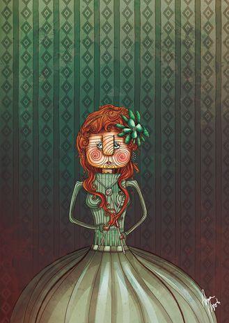 Princess in green, da Anna Anjos, que eu ADORO. Já falei dela há um tempão aqui, lembra?