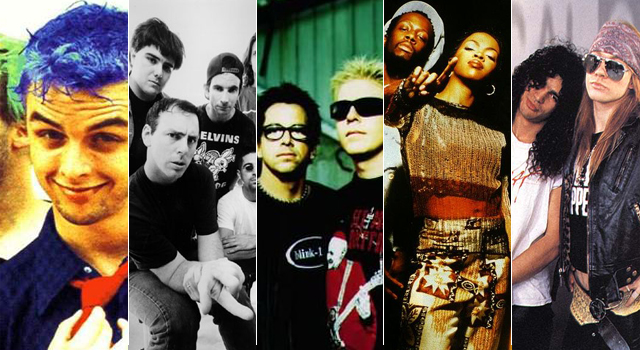 Top 5: Rock internacional dos anos 90