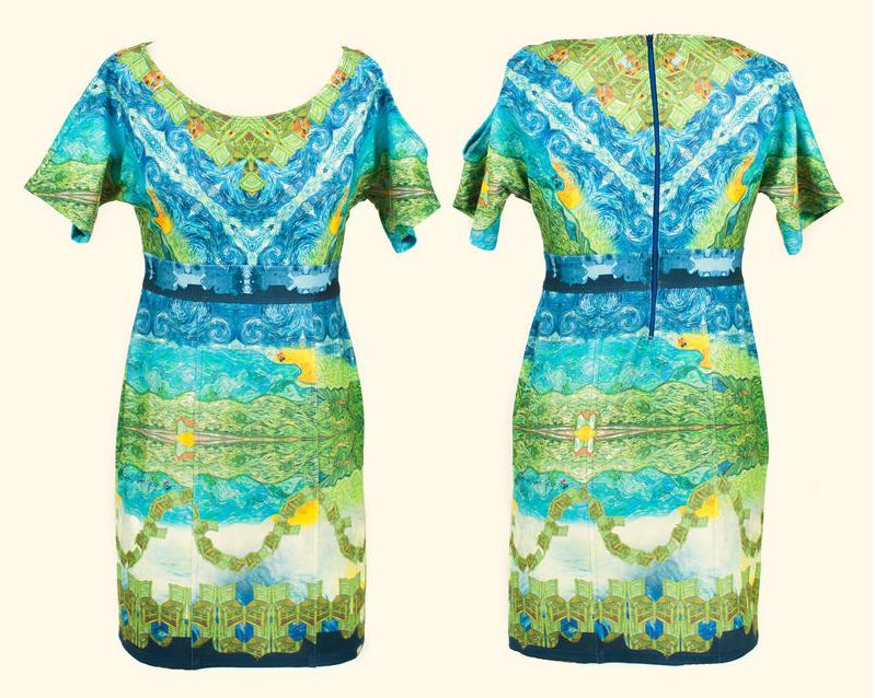 """A não compra de hoje: vestido """"As férias de Van Gogh"""""""