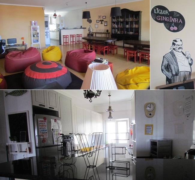Sala comum e cozinha: espaço comunitário para tomar café da manhã e socializar com os outros hóspedes.