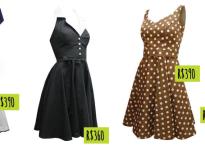 Vestidos nacionais com cara de anos 50
